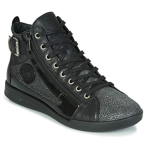 Pataugas Palme/c F4f Sneaker Damen Schwarz Hohe Sneaker Schuhe, Schwarz (schwarz), 37.5 EU