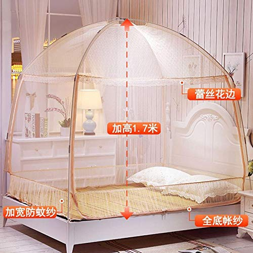 Yurta Mongola_1 slaapkamer 5 m afzuigkap muggennet dekbed muggennet bed 1.5m Giada A36