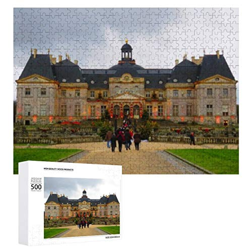 Traasd11an Jigsaw Puzzle 500 Piece- Chateau Vaux Le Vicomte France,Every Piece is Unique, Softclick Technology Means Pieces Fit Together Perfectly