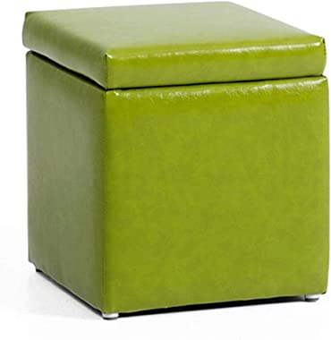 Ottoman Footstool, Small Stool Baby Home Stool Block Footstool Storage Stool Storage Stool Children Small Bench, 30 * 30 * 35