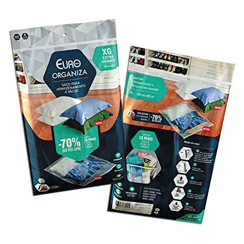 Organizador a Vácuo Extra Grande (100 X 80 Cm), Transparente, VAC9904, Euro Home