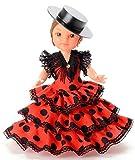 Folk Artesanía Sammelpuppe 25 cm. Andalusisches Flamenco-Regionalkleid mit Cordoba-Hut España....