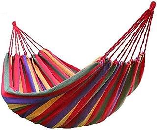 WEHOLY Swing Hammock Wood Plastic Durable Swings Portable 150 kg Load-Bearing Outdoor Garden Hammock Hang Bed Travel Camping Swing Survival Outdoor Sleeping Swings (Color : Red)