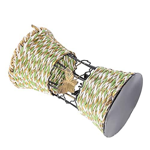 Angoily Cestas Planta Tecido Cesta Plantador para Plantas de Interior Seagrass Cesto para a Lavanderia De Armazenamento de Piquenique E Jardim Decorativo Vaso de Flor Verde