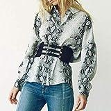 EVRIS エヴリス パイソンプリントルーズシャツ 371910401201 BLACK(ブラック) F