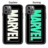 Coque de en Verre Lumineux pour iPhone 6 6S 7 8 Plus X XR XS XS Max 11 11 Pro 11 Pro Max Avengers Black Panther Iron Man Bat Spider Man iPhone 11 Pro 8