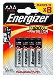 Energizer Max Powerseal 8 piles 1,5V alcalines AAA (lot de