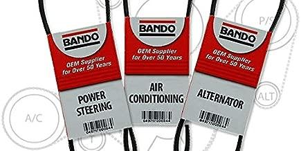BANDO Drive Belt Set Fits 2.4L Toyota Tacoma 1998-2004 FOUR CYLINDER Three Piece Set Alternator-Air Conditioner-Power Steering Belt Set(3 belts) BANDO 4PK870 5PK865 4PK1080