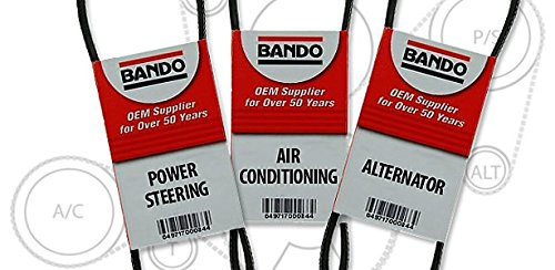 BANDO three piece set Replacement for 1999 2000 Honda Civic si 4PK775 BANDO 4PK845 BANDO 4PK880OEM Quality Serpentine Drive Belt Pulley Set for Alternator Air Conditioning and power steering