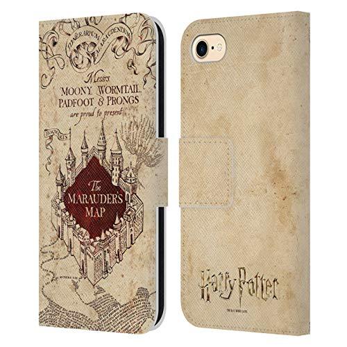 Head Case Designs sous Licence Officielle Harry Potter The Marauder's Map Prisoner of Azkaban II Coque en Cuir à Portefeuille Compatible avec Apple iPhone 7 / iPhone 8 / iPhone Se 2020