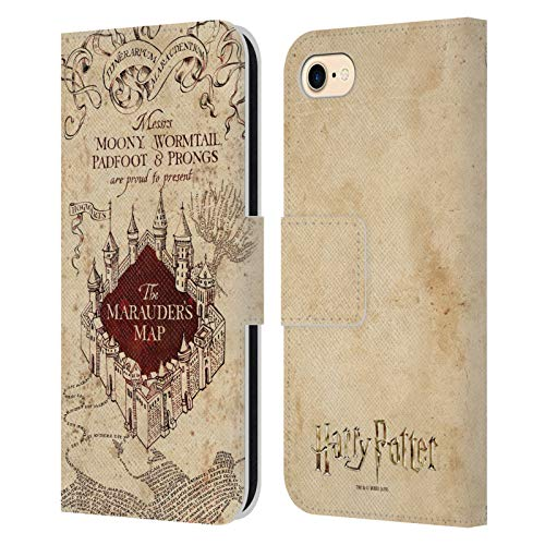 Head Case Designs Licenza Ufficiale Harry Potter The Marauder's Map Prisoner of Azkaban II Cover in Pelle a Portafoglio Compatibile con Apple iPhone 7 / iPhone 8 / iPhone SE 2020