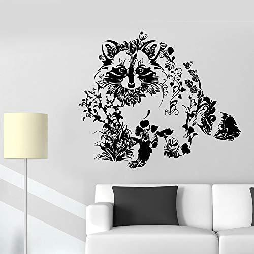 Tianpengyuanshuai behang wasbeer dier bloem natuur sticker voor ramen van vinyl slaapkamer voor kinderen woonkamer decoratie school kleuterschool