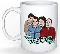 SkyLine902 - Seinfeld Mug (Jerry Seinfeld, Elaine Benes, George Costanza, Cosmo Kramer, Larry David, Curb your Enthusiasm), 11oz Ceramic Coffee Novelty Mug/Cup, Gift-wrap Available