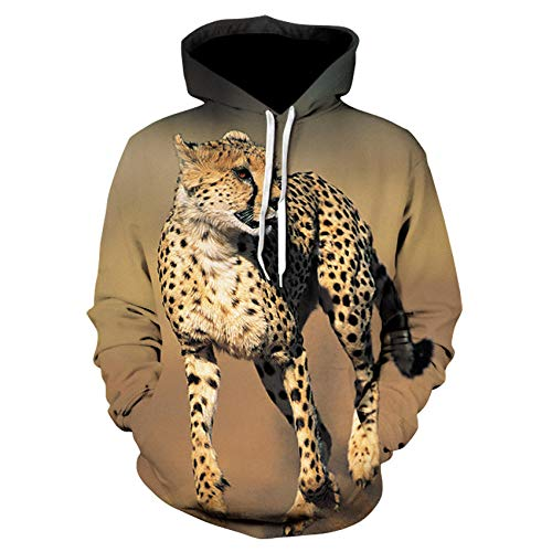 Hoodies Autumn Winter Lovers Teen Unisex Jumpers Tops Casual Pullover Long Sleeve Pockets Funny Animal leopard 3D Print S-6Xl