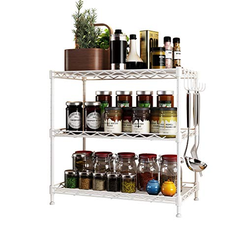 Metall Kuchenregal,Küchenregal Regale, Mikrowelle Rack, Küche Lagerregal, Boden Metall Lagerregal, Küchenregale für Geräte
