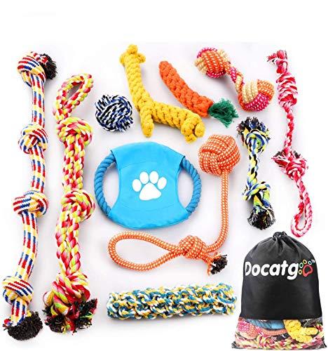 犬ロープおもちゃ犬おもちゃ犬用玩具噛むおもちゃペット用コットンストレス解消丈夫耐久性清潔歯磨き小/中型犬に適用Docatgo