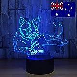 Chat Mignon Nuit lumière Tactile Interrupteur lumière Animale Couleur Diapositive Lampe Lampe de Table décoration de la Maison comme Cadeau de Jouet pour Enfants Hors du Bateau