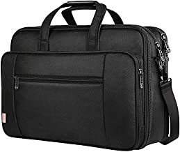 17 Inch Laptop Bag, Large Business Briefcase for Men Women, Taygeer Travel Laptop Case Shoulder Bag, Waterproof Expandable Computer Messenger Bag, Durable Carrying Case Fits 17 in Laptop and Notebook
