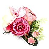 SZHWLKJ Dama de honor boda muñeca flor ramillete novia pulsera elástica ramillete boda balonmano fiesta flor decoración (rosa)
