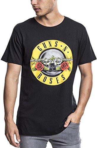 Guns n Roses Herren T-Shirt Classic Logo Tee, Farbe schwarz, Rundhals, Größe L