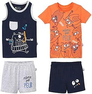 dce84f649f361 Petit Béguin - Lot de 2 pyjamas garçon Même pas peur - Taille - 10 ans