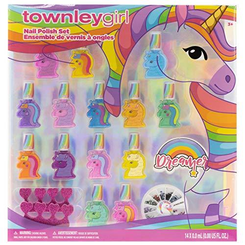 Townley Girl Unicorn 15er Pack Nagellack mit Nagelfeilen und Nagelrad, 18 CT