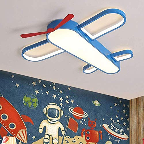Creative Chandelier, Cartoon Acryl Shaped Boy Slaapkamer Vliegtuig Ceiling Lamp for Children's Room, 65cmwhitelight, Grootte: 65cmwhitelight (Size : 65cm+remotecontrol)