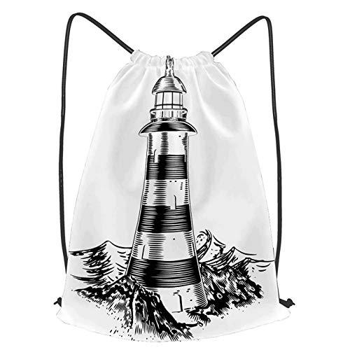 YMWEI Impermeable Bolsa de Cuerdas Saco de Gimnasio acuarelas luna Deporte Mochila para Playa Viaje Natación