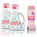 Dreft Stage 2, Active Hypoallergenic Liquid Baby Laundry Detergent for Newborn or Infant, 50 Ounces(32 Loads), 2 Count with In-Wash Scent Booster Beads, 14.8 Ounce