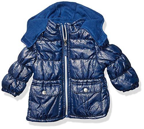 Pink Platinum Baby-Mädchen Spray Foil Print Puffer Jacke, Navy, 12 Monate