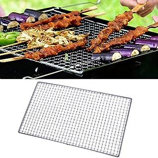 Non en acier inoxydable bâton BBQ Mesh Grill Mat feuille de cuisson Churrasco Barbecue Liner Roaster Outils 40 * 60 cm 3 t...