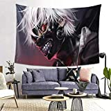 DIYYAO Anime Tokyo Ghoul Tapestry Wall Hanging Decoration for Apartment Home Art Wall Tapestry for Bedroom Living Room Blanket (H,60'X40')
