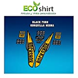 Ecoshirt GB-47OF-47E5 Egatinas Stickers Fork Rock Shox SID WC World Cup 2017 Am127 Aufkleber Decals Autocollants, Amarillo Oscuro y Gris