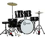 Gammon Percussion Full Size Complete Adult 5 Piece Drum Set with Cymbals Stands Stool and Sticks,...