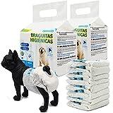 BPS 16 Pcs Pañal para Perro Sanitarios Mascotas Desechables Hembra Cachorro Entrenamiento Súper Absorbente Braguita Higiénica 5 Tamaños Elegir (XL) BPS-2185 * 2