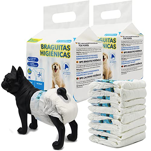 BPS 16 Pcs Disposable Dog Nappy Sanitary Pets Female Puppy Training Super...