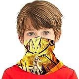 Sun Protection Tube Masks, Kids Children Anti Dust Breathable Neck Gaiter, Anime Naruto Nine-Tails Chakra Mode with Kurama Head Wrap Magic Scarf for Riding Skiing