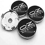 ZXKQ 4 Pezzi Auto Coprimozzi Coprimozzo Copricerchi Tappi, per OZ Racing con Accessori Lo Styling del Logo Dell'Auto