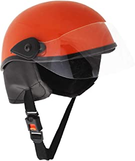 Sage Square Aero Half Helmet (Orange Glossy) (Medium)