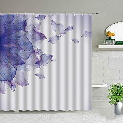 XCBN Traumblume Abstrakte Kunst Duschvorhang Grün Rot Blau Orange Lila Blumen Bad Display Wasserdicht Badezimmer Vorhang A1 180x180cm