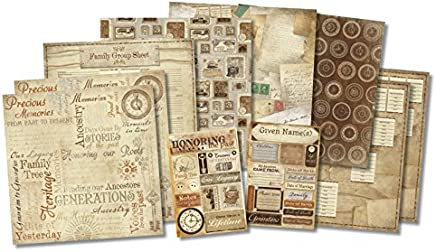 "Karen Foster 20519 Honoring The Past Scrapbook Page Kit 12""X12""-"