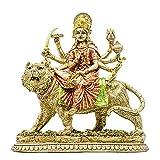 Hindu Goddess Durga Statue - Indian God Durga On Tiger Figurines Decor - India God Murti Idol Home Mandir Temple Puja Sculpture Pooja Gifts Item Altar Yoga Meditation Room Diwali Gifts