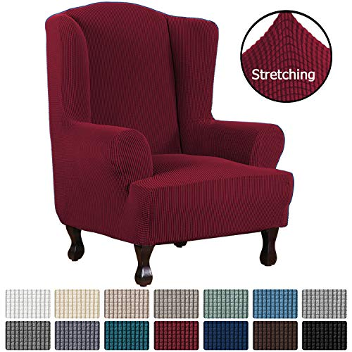 1 Piece Super Stretch Stylish Furniture Cover/Wingback Chair Cover Slipcover...