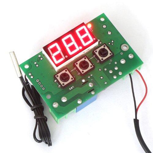 DROK -50-110 ℃ Termostato Digitale 12V AC / DC Riscaldamento Raffreddamento Regolatore di Temperatura con 1 Meter Sensore Sonda Cavo