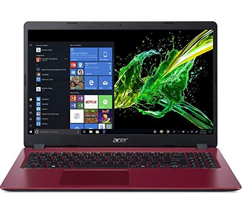 ACER Aspire 3 A315-54 Core¿ i3-7020U Processor 4GB RAM 1TB HDD 15.6' Laptop Windows 10 (64-bit) Battery life: Up to 8 hours Red (NX.HFXEK.001)