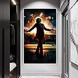 wtnhz Sin Marco Película Joker Poster Wall Art Retrato Figura Pintura Imprimir Poster Canvas Wall Picture for Living Room Home Decoration