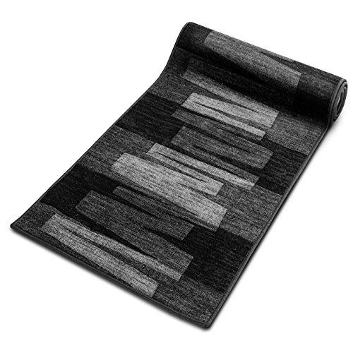 Läufer Teppich Brücke Teppichläufer Veneto 80 cm breit anthrazit grau Marke: Ta-Bo Lifestyle, 80x250 cm