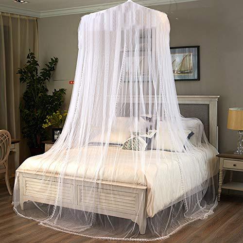 Muggennet, BOJON universele witte koepel muggennet voor alle maten bed, opknoping bed luifel Netting voor reizen Camping en familie gebruikt
