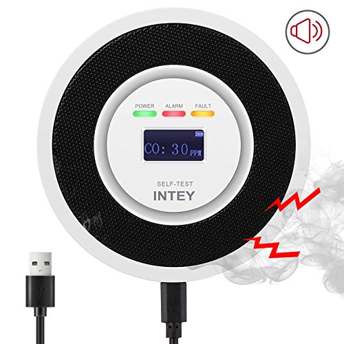 INTEY CO Melder Kohlenmonoxid Melder CO Sensor Kohlenmonoxid Detektor mit LCD-Display...