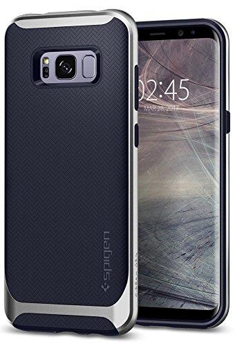 Spigen Coque Samsung S8 [Neo Hybrid] Protection Spider Web, Anti Choc, Contour Renforcé, Motif Chevron, Coque Compatible avec Galaxy S8 - Arctic Silver